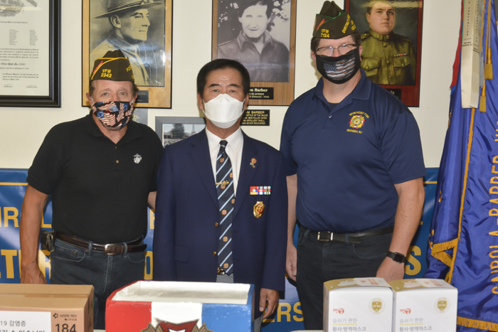 Mask donations to District 2 and VFW 2342 Fort Lee
